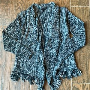 DEREK HEART Girls Navy Sweater Cardigan